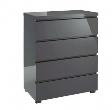 Puro 4 Drawer Chest - Charcoal